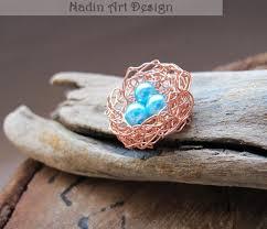 little wire bird nest with mini