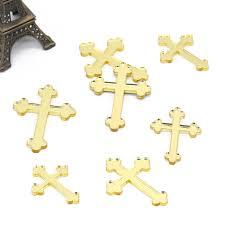 <b>48 Pcs</b> Laser Cut Golden <b>Mirror</b> Crosses Customize Many Style ...