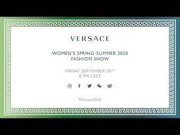 Versace Women's Spring-<b>Summer 2020 Fashion</b> Show - YouTube