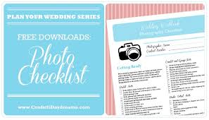 Wedding Photography Checklist Template Wedding Photography Checklist Free Printable