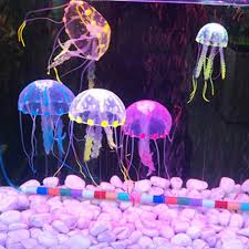 soft colorful silicon fluorescent floating glowing jellyfish effect fish tank decoration aquarium you