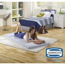 simmons beautysleep siesta twin memory foam guest roll up extra portable mattress bed walmart