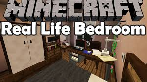 Minecraft Bedroom In Real Life My Real Life Bedroom In Minecraft Custom Modeled Room Youtube