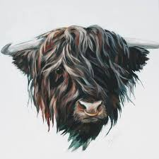 This is different - I am exhibiting in... - Hilary Barker Highland Cow Art  | Facebook
