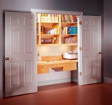 office in a closet. Convert Closet Into Office In A