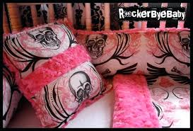 skull crib bedding set custom punk baby crib bedding set you choose the fabric skulls skull