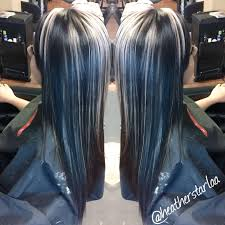 All Over Black Hair With Chunky