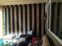 porch rain curtains shown with valance