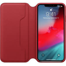 apple apple leather folio case for iphone xs max product red ato cayman mac t a alphasoft
