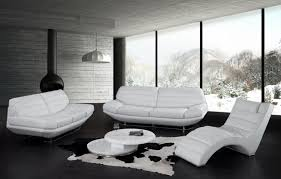 modern leather living room furniture. How To Maximize The Exotic Living Room Furniture : Beautiful Black White Decoration Using Modern Leather