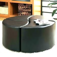 brown round ottoman circular leather large catchy coffee e ot