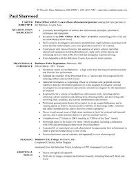 Free Law Enforcement Resume Example Law Resum