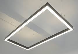 suspended linear lighting. Plain Linear Suspended LED Rectangle Linear Light Fitting In Lighting Sera Technologies