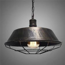 details about 14 pendant light bronze industrial style led barn hanging ceiling fixture new