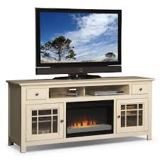 merrick  fireplace tv stand with contemporary insert  white