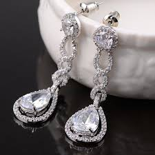 bridal chandelier earrings vintage crystal bridal earrings long silver dangle wedding