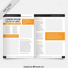 free magazine layout template white magazine template orange parts vector free download