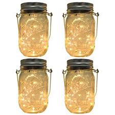multi color outdoor solar jar design. 4-Pack Solar-powered Mason Jar Lights (Mason \u0026 Handle Included) Multi Color Outdoor Solar Design