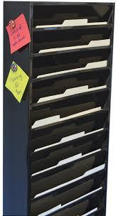 wall mounted file organizer metal
