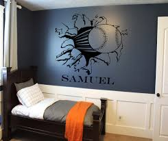 Softball Bedroom Custom Baseball Or Softball Bursting Through Wall Decal