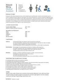 Resume For Medical Internship Objective For Medical Assistant Resume