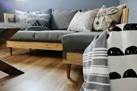 How to upholster a wood frame couch--free building plans to build your own
