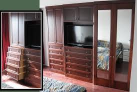 2 Bedroom Walk-In Reach-In Closet Wardrobe Furniture Armoire Wall Unit  Cabinet Storage Dresser TV Entertainment Center Door Custom Built NYC New  York City ...