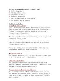 the six step rational decision making model decision making the six step rational decision making model decision making creativity