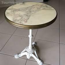 Bistro ancienne table de bistrot en marbre de carare cerclag en ...