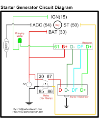 starter generator circuit diagram on the image for a larger high resolution