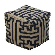 surya square pouf ottoman  lowe's canada