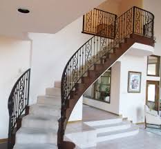 ... Awesome Metal Railings For Stairs Interior Stair Railings Black Metal  Railings With Grey Stairs ...