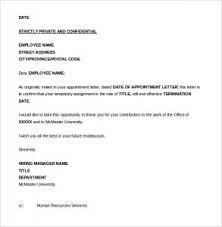 Sample Of Job Termination Letter Scrumps