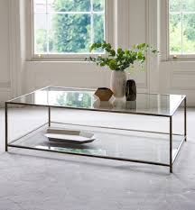 tables madison table x: madison coffee table size  x cm top standard clear glass base finish bronze