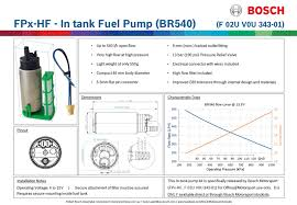 Bosch Fuel Pump Chart Bosch Br540 F 02u V0u 343 01 Fpx Hf High Flow In Tank Fuel