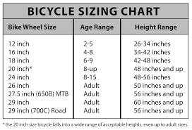 bike size chart