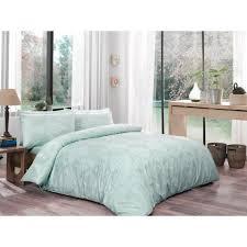 single twin 100 cotton original mint green bedding quilt duvet cover set 3 pcs