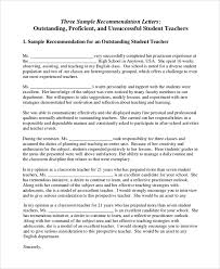 samples of a letter of recommendation 18 letter of recommendation for teacher samples pdf doc