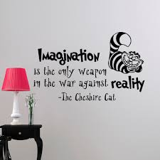 Alice In Wonderland Wall Decor Alice In Wonderland Wall Decal Quote Imagination Is The Only