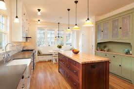 white country kitchen with butcher block. Image Of: A Light, Bright, And Airy Country Kitchen In White Pale With Butcher Block O