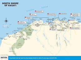 printable travel maps of kaua'i  moon travel guides