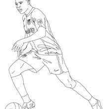 Small Picture Soccer Player Coloring Page Soccer players