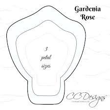 Paper Flower Petal Template Large Flower Template Printable Giant Paper Rose Petal Template