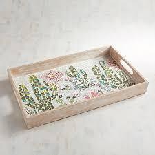Cactus Scene Mosaic Tray