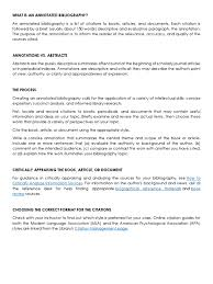 What Is An Annotated Bibliography Citation Abstract Summary