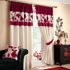 Unique Curtains For Living Room Unique Red And White Curtains For Living Room For House Design