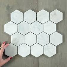 carrara marble hexagon tile marble white hexagon tile 4 white italian carrara marble hexagon tiles