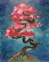 paint and pour pink bonsai painting with a twist dearborn heights studio painting with a twist owners dearborn michigan avenue