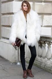 fur white fluffy london fashion week teen vogue