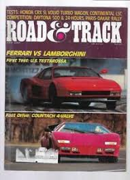 Why is ferrari ff (2014) better than volvo xc90 (2015)? Road Track Magazine June 1985 Honda Crx Ferrari Testarossa Volvo 740 Turbo Ebay